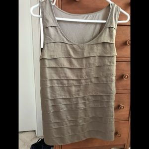 Ann Taylor banded layering sleeveless top.